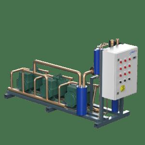 Многокомпрессорно-ресиверный агрегат полугерметичном поршневом компрессоре