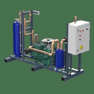 Компрессорно-ресиверный агрегат герметичном поршневом компрессоре